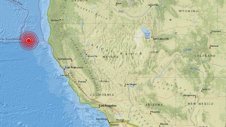 Se registra un sismo de magnitud 5,7 en la costa de California