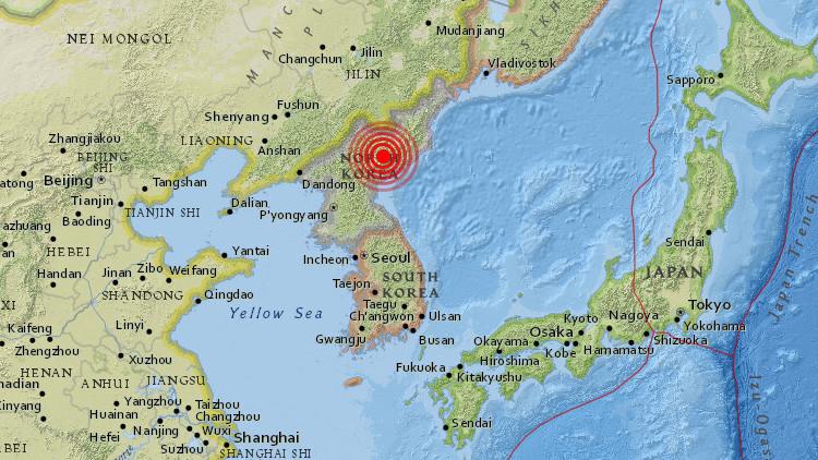 Un terremoto de 3,4 se registra en Corea del Norte