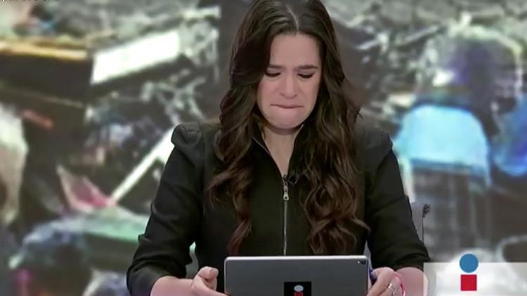 VIDEO: Presentadora llora en vivo al saber que la esposa de un colega murió en el sismo de México