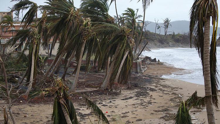 FOTO: Así quedó la playa puertorriqueña del 'Despacito' tras el paso del huracán María