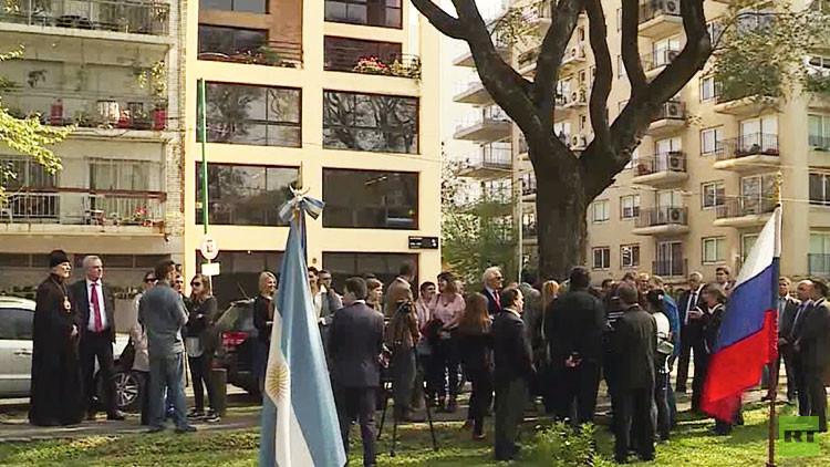 Inauguran en Buenos Aires la plaza de la Federación de Rusia