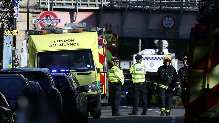 Reportan una explosión en el metro de Londres