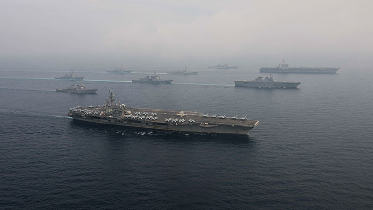 Un grupo naval de EE.UU. realizará maniobras junto a las costas de Corea
