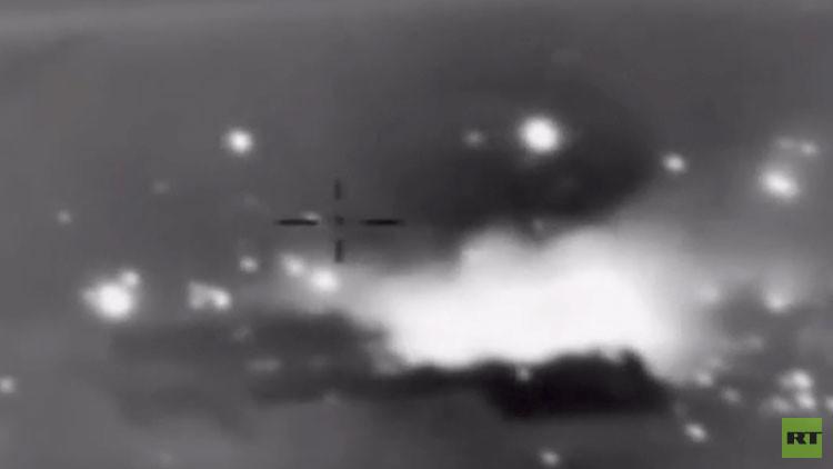 VIDEO: El bombardeo ruso contra los comandantes del Frente al Nusra en Siria