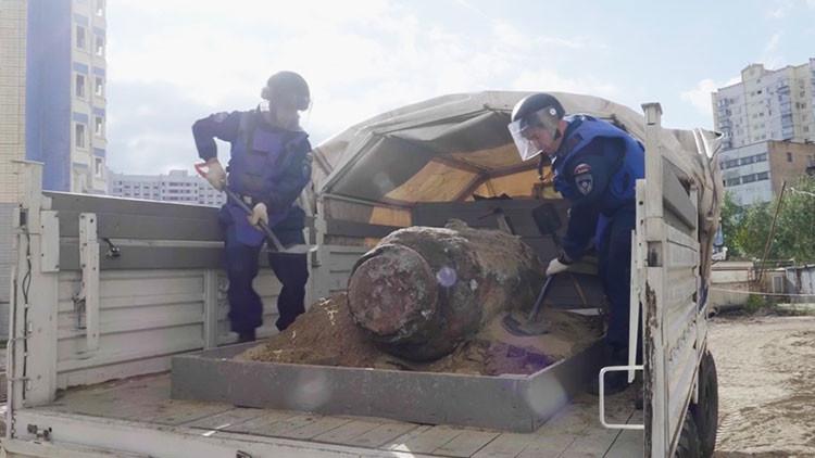 VIDEO: Descubren en Moscú una bomba de 1.800 kilos de la Segunda Guerra Mundial