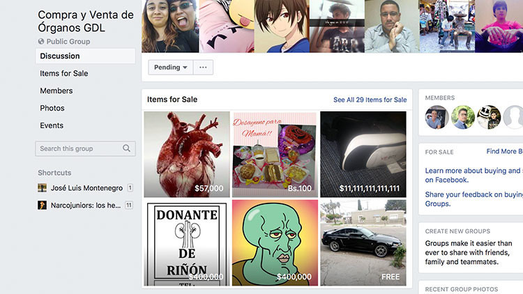 """""""Espero encontrar comprador para mi riñón"""": así es la compraventa de órganos en Facebook en México"""