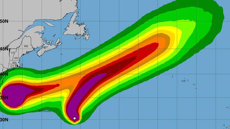 La tormenta tropical Lee se convierte en huracán de categoría 3