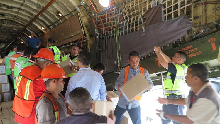 Rusia envía 35 toneladas de ayuda humanitaria a las víctimas de terremotos en México (VIDEO, FOTO)