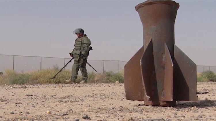Zapadores rusos eliminan 1.500 explosivos en una gran operación antiminas en Deir ez Zor