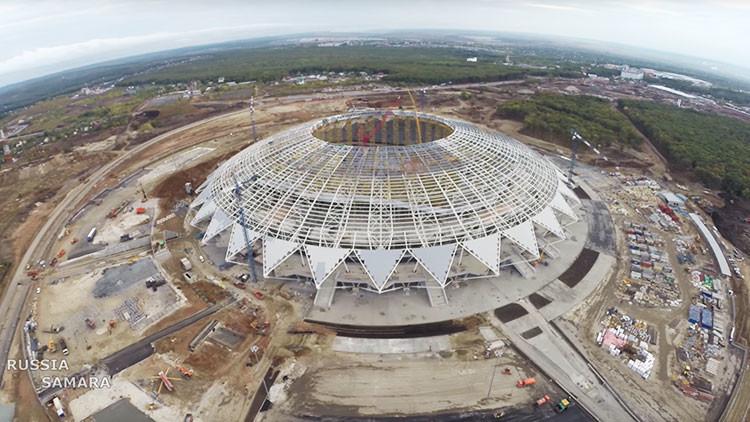"""""""Espectacular estadio, cálida bienvenida"""": La FIFA inspecciona el Samara Arena para el Mundial 2018"""