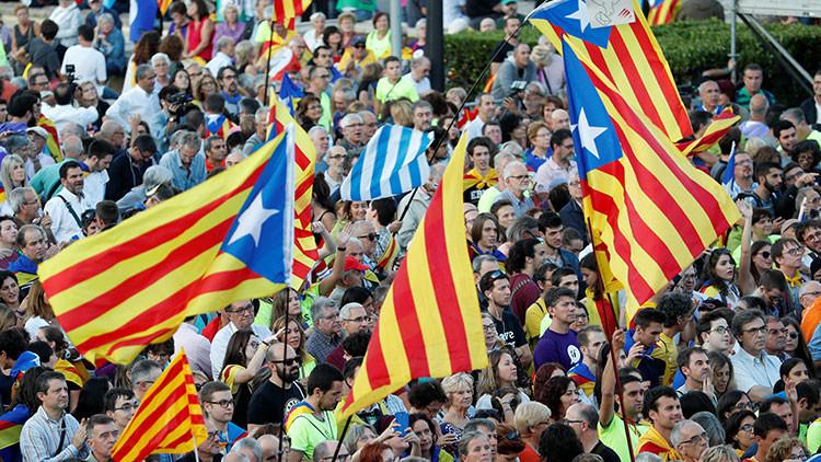 VIDEO: La manifestación final del 'sí' antes del referéndum de independencia de Cataluña
