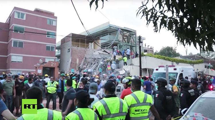 Las obras ilegales en un colegio de México podrían ser la causa de su derrumbe durante el terremoto