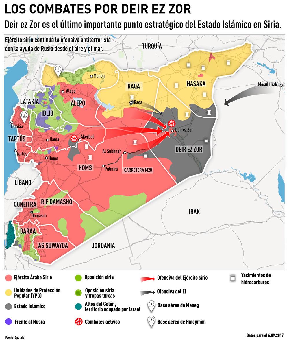 Guerra De Siria Mapa.Mapa Aviacion Rusa Y Tropas Sirias Rescatan A Asediados En