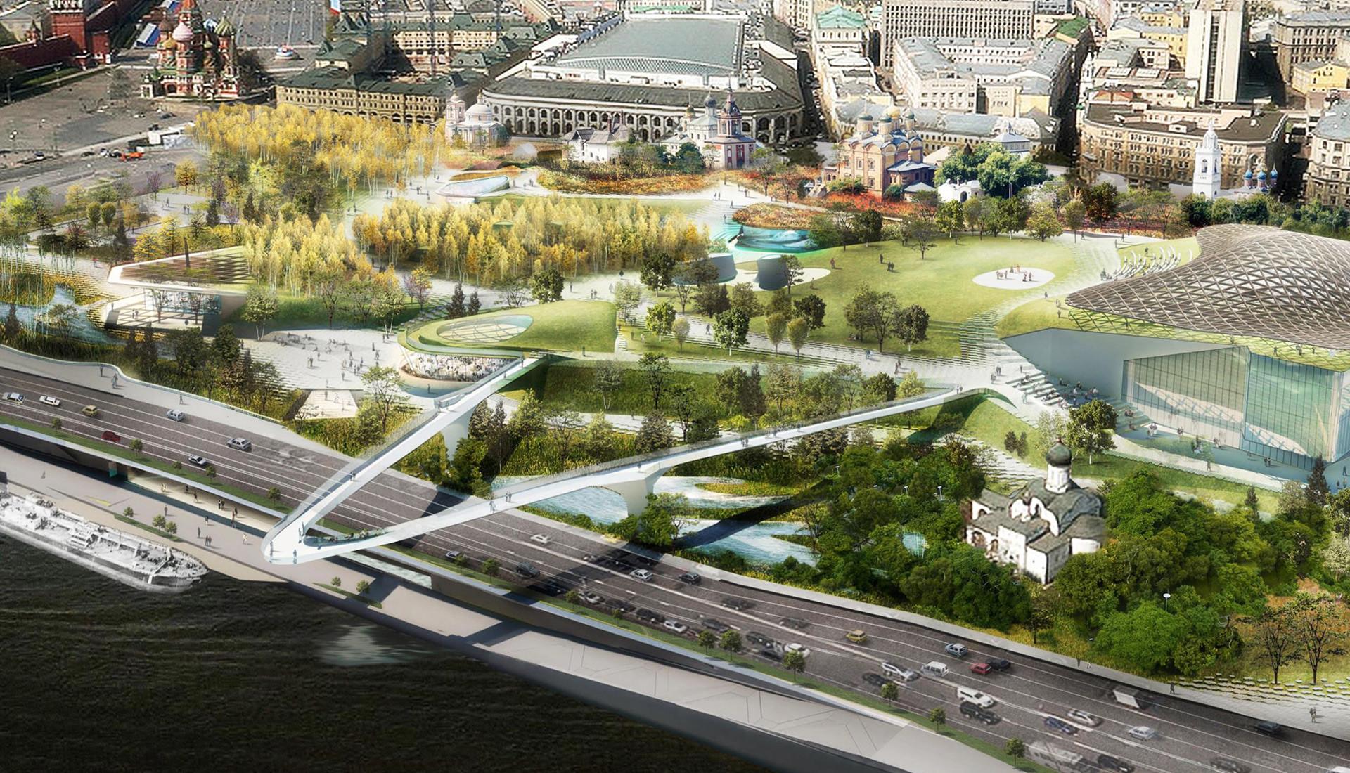 FOTOS: El impresionante nuevo parque se abre en el corazón mismo de Moscú
