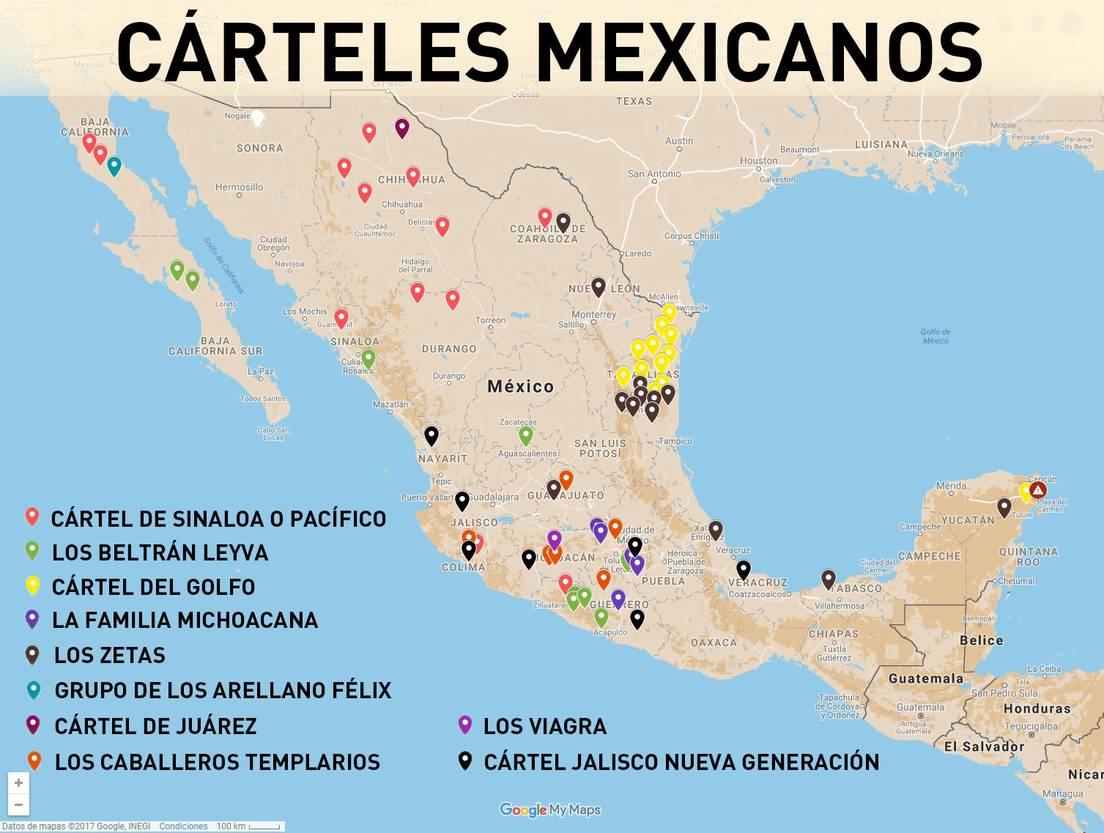 Quiénes Son Y Dónde Operan Los Cárteles Mexicanos De La