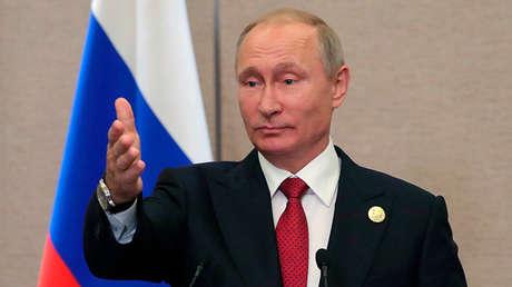 Vladímir Putin en la rueda de prensa sobre los resultados de la cumbre de los BRICS, el 5 de septiembre de 2017.