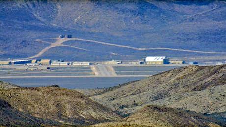 Imagen de la base militar conocida como Área 51, Nevada, EE.UU.
