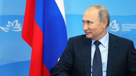 Vladímir Putin en el Foro Económico Oriental en la ciudad rusa de Vladivostok, el 6 de septiembre de 2017.