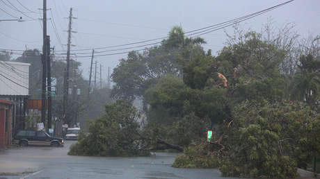 Efectos del huracán Irma en Fajardo, Puerto Rico, el 6 de septiembre de 2017