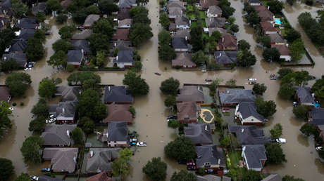 Viviendas al noroeste de Houston, Texas, quedaron sumergidas a causa de la tormenta tropical Harvey.
