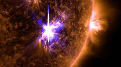 La llamarada del Sol con una intensidad de X9,3 del 6 de septiembre de 2017.