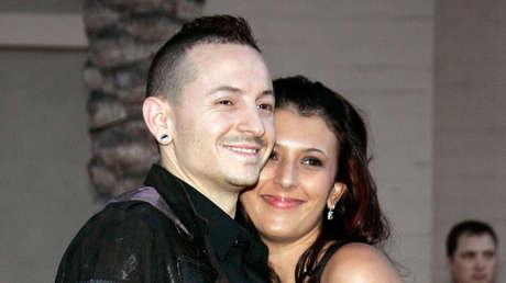 Chester y Talinda Bennington, 21 de noviembre de 2006.