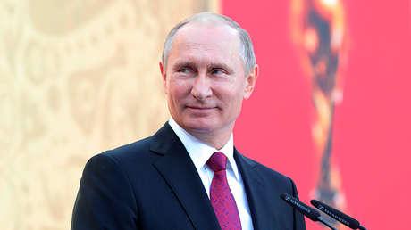 El presidente ruso, Vladímir Putin, en el estadio Luzhniki, en Moscú, Rusia, el 9 de septiembre de 2017