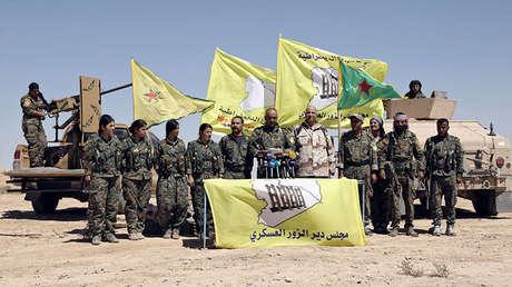 Combatientes de las SDF al noreste de Deir ez Zor. 9 de septiembre de 2017.