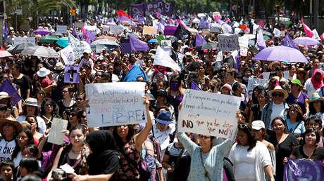 Marcha en memoria de Mara Fernanda Castilla, Ciudad de México, 17 de septiembre de 2017.