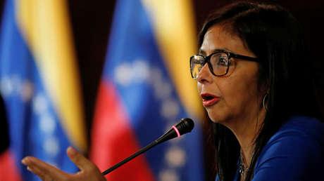 La presidenta de la Asamblea Nacional Constituyente de Venezuela, Delcy Rodríguez, en Caracas, el 28 de agosto de 2017.