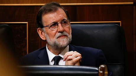 El presidente español Mariano Rajoy durante la Moción de Censura celebrada en el Congreso de los Diputados el pasado 13 de Junio de 2017.