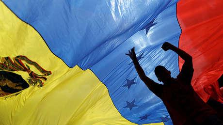 Partidarios del Gobierno en una concentración contra las medidas que adoptó EE.UU., Caracas, Venezuela, 14 de agosto de 2017.