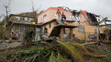Efectos del huracán María en Yabucoa, Puerto Rico, el 22 de septiembre de 2017.