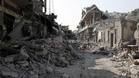 Edificios destruidos en Raqa, Siria, el 16 de septiembre de 2017.