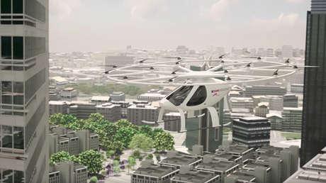 prototipo del Volocopter, utilizado en Dubai.