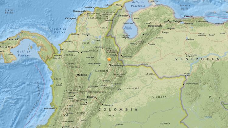 Un sismo de magnitud 5,7 se registra en el norte de Colombia