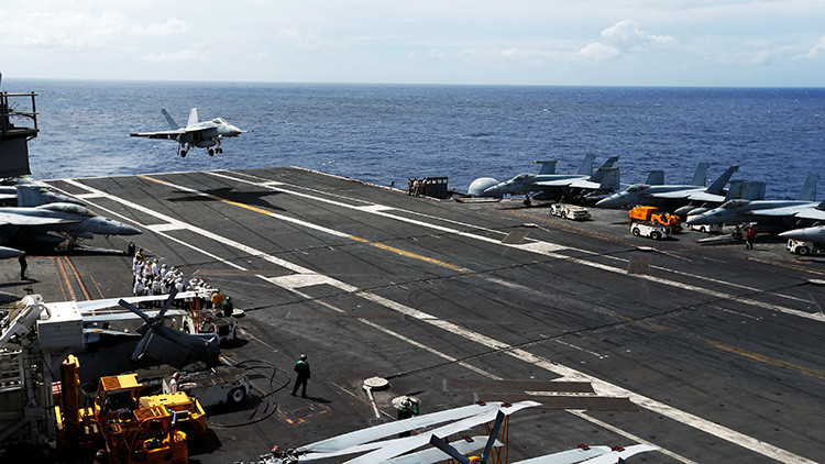 Un portaviones de EE.UU. vigilado por China llegará este mes a Corea del Sur