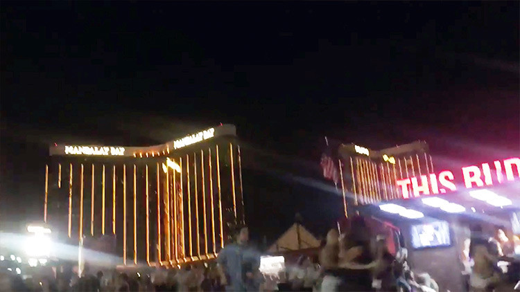 VIDEO: La gente huye despavorida de un tiroteo en un festival de música de Las Vegas