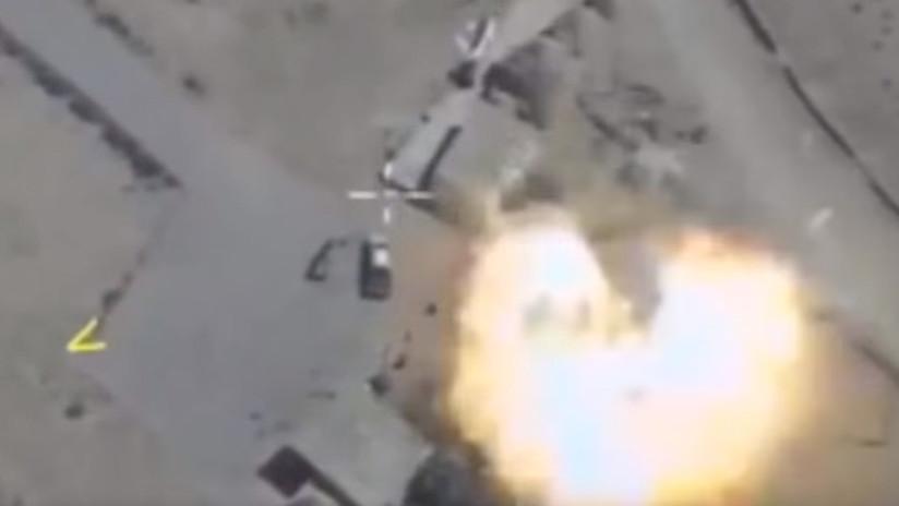 VIDEOS: Así ataca la Fuerza Aérea rusa blancos terroristas en Siria