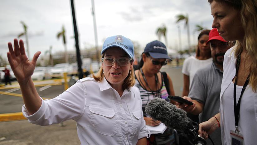 """VIDEO: ¿Por qué la alcaldesa de San Juan luce un """"grosera"""" en su camiseta tras la visita de Trump?"""