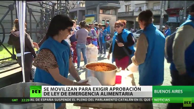 Movilización en Argentina a favor de la ley de Emergencia Alimentaria
