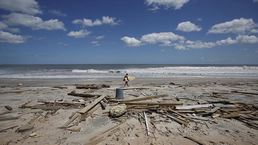 FOTO: Una misteriosa boya soviética aparece en Florida tras el huracán Irma