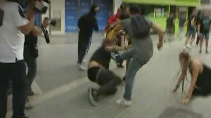 VIDEOS: Brutales agresiones de ultranacionalistas durante una marcha independentista en Valencia