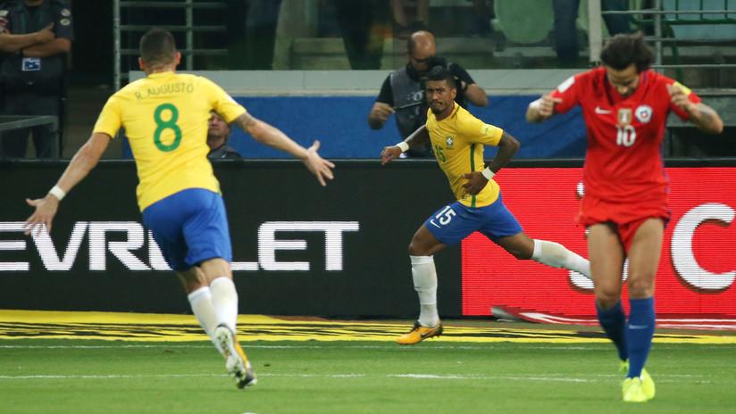 Brasil vence a Chile y extingue el sueño mundialista de la Roja