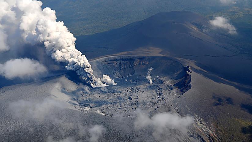 La erupción del volcán Shinmoedake