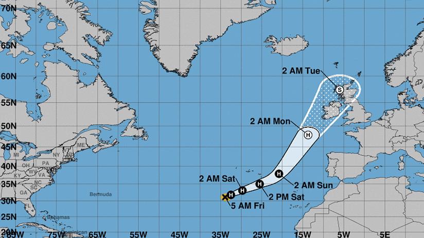 Irlanda espera con temor la inminente llegada del huracán Ophelia