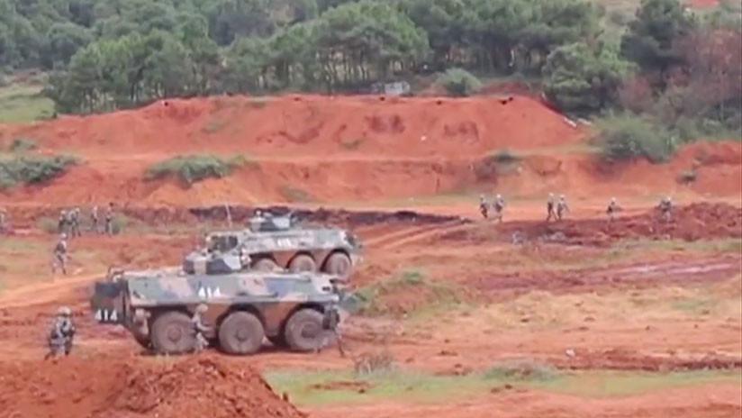 China realiza ejercicios militares de ataque y defensa (VIDEO)