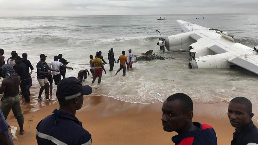 VIDEO, FOTOS: Accidente de un avión de carga en Costa de Marfil deja al menos 4 muertos