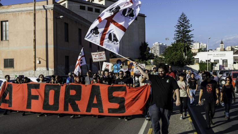 '¡Fuera la OTAN!': En Italia exigen al bloque militar desocupar Cerdeña (FOTOS)