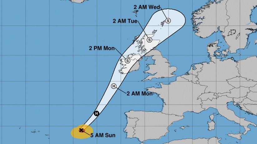 Irlanda emite la alerta roja ante la inminente llegada de la peor tormenta desde 1961
